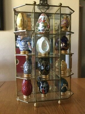 Franklin Mint Treasury of Eggs Collection 12 Original Case