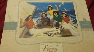 1952 Milling Co N.Y. DIONNE Quintuplets go 18 Smooth Sailing Loomis Tintogravure