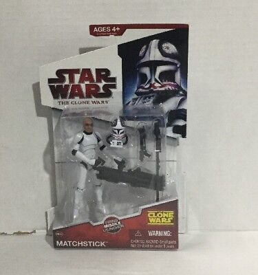 Star Wars - The Clone Wars pilot Matchstick CW34 2009 Animated action figure