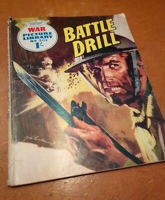 War Picture Library No 304, Battle Drill, 1966 Issue, 1/- Cover Price