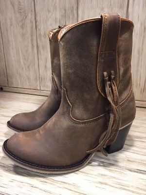 official supplier best price new authentic DINGO WOMEN'S WRIGLEY Tan Fringe Ankle Boots DI589 - $119.95 ...