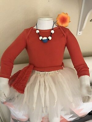Moana Birthday Tutu Outfit Party Set with Necklace