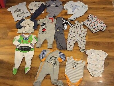 Boys Disney  bundle size 9-12mths outfits Mickey Mouse, Tigger, buzz lightyear