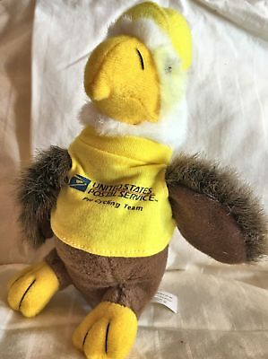 USPS Post Office Eagle Plush Toy Yellow Shirt Looks Like a Duck from the Front