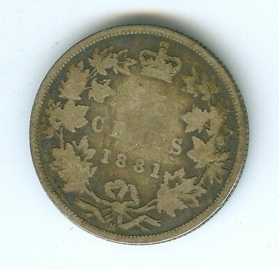 Canada 1881-H 25 Cents--Circulated