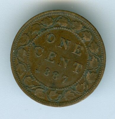 Canada 1887 Large Cent--Circulated