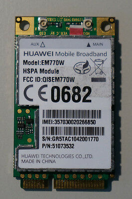 Huawei EM770W 3G/GPS/HSPA Mini PCI Express Card