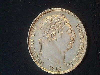 George 111 Silver Sixpence 1816 New Coinage Unc (United Kingdom)