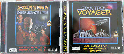 Star Trek Deep Space Nine & Voyager Entertainment Utility CD-Rom Limited Edition