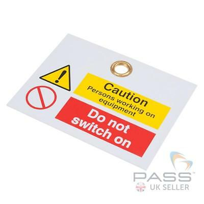 Reinforced PVC Caution Tags 200mm x 100mm - Pack of 10