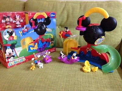Mickey Mouse Clubhouse Fly & Slide - in original box - Plus Extra Figures