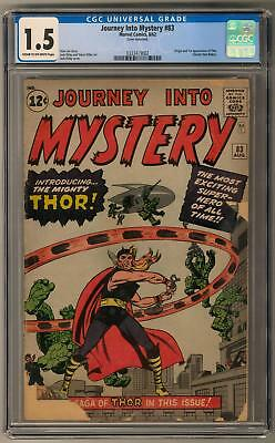 Journey Into Mystery #83 CGC 1.5 (C-OW) 1st Thor Appearance