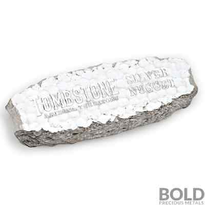 10 oz .999 Silver Tombstone Nugget Bullion Bar by Scottsdale Mint
