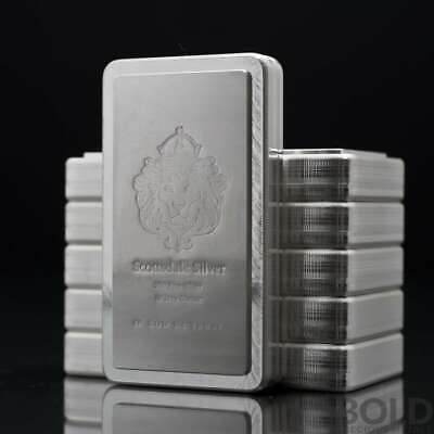 10 oz .999 Silver Stacker Bullion Bar by Scottsdale Mint