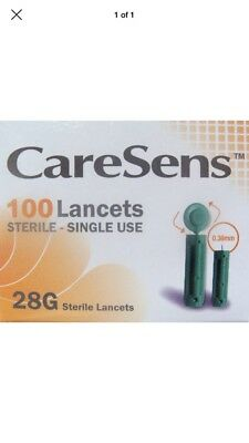 2 Boxes Of Caresens Lancets 100, 28g, (200 In Total) 9/2018