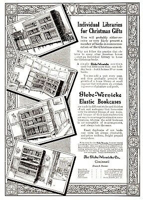 1911 Globe - Wernicke Co, Cincinnati, Ohio Elastic Bookcases Advertisement