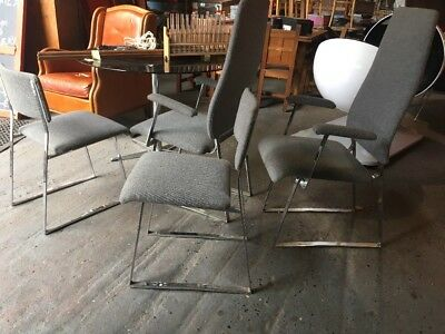 RARE VINTAGE MID CENTURY 70's MERROW ASSOCIATES RUSSELL CHIN HEALS FOUR CHAIRS