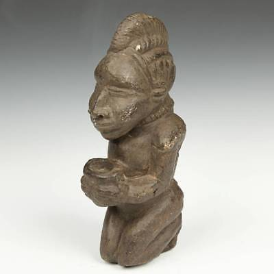 Antique Stone Sculpture Ancestral Spirit Kissi Sierra Leone W. Africa 17Th C.