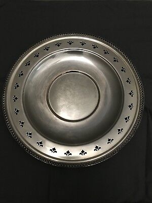 Vintage 1950's EPC Poole Silver Christmas Holly charger/plate