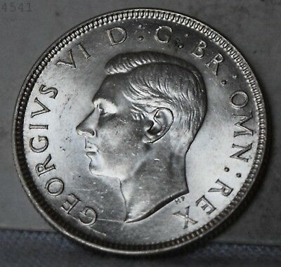 """1944 Great Britain *Silver* 2 Shillings """"Choice BU"""" *Free S/H After 1st Item*"""