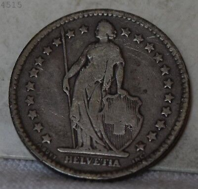 1886-B *Silver* Switzerland 2 Francs *Free S/H After 1st Item*
