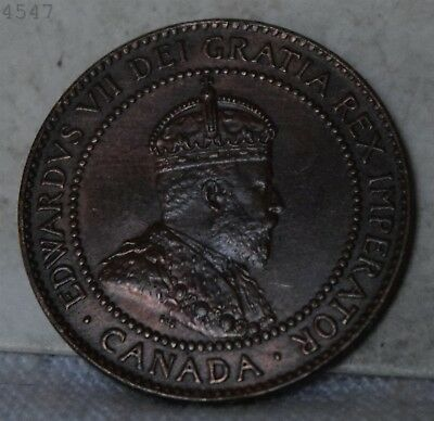 "1910 Canadian Large Cent ""Choice BU"" *Free S/H After 1st Item*"