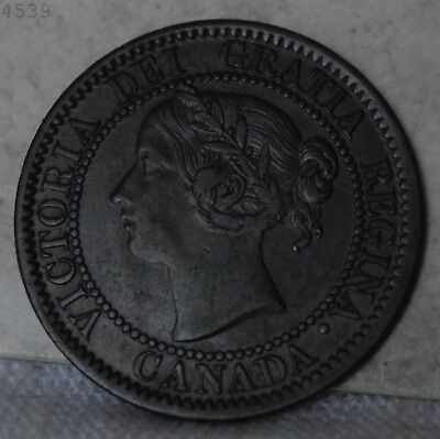 "1859 *Narrow 9* Canadian Large Cent ""UNC"" *Free S/H After 1st Item*"