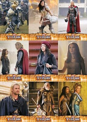 Thor The Dark World Movie 2013 Upper Deck Partial Base Card Set 98/100 Marvel