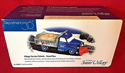 Village Service Vehicle Snow Plow Dept 56 54959 Christmas city accessory retired