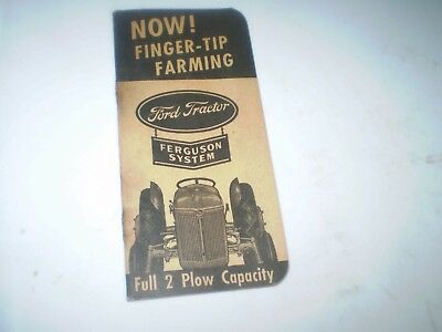 1942 Ford Tractor Finger Tip Manual Original Rare 'ferguson