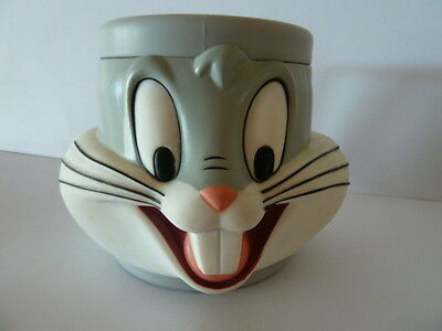 Looney Tunes 3D 'bugs Bunny' Plastic Kids Cup Mug 1992 Collectable Vgc