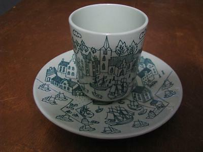 Denmark Nymolle Cup and Saucer Vintage 1950s Paul Hoyrup Art Faience Pottery