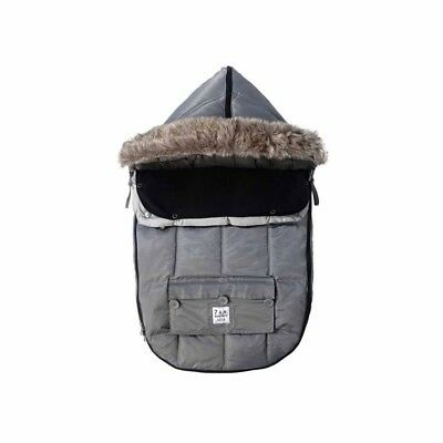 7AM Enfant Le Sac Igloo Footmuff~Grey Size Small. Adapts to car seat or stroller