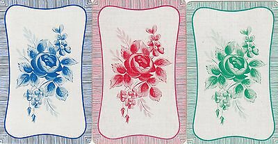 *Vintage Swap / Playing Cards - 3 SINGLE- FRUITS AND FLOWERS a
