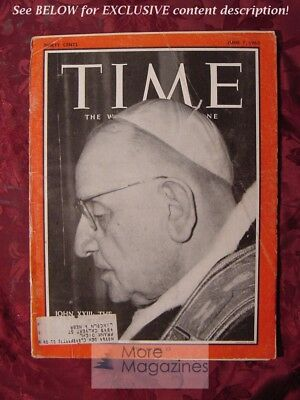 TIME Magazine June Jun 7 1963 6/7/63 Catholicism POPE JOHN XXIII +++