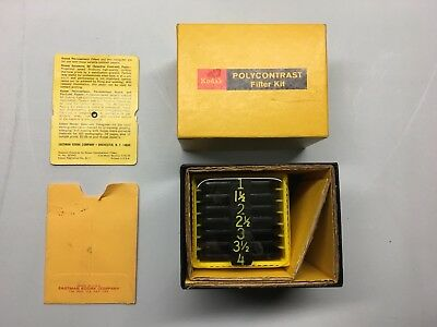 Vintage Kodak Polycontrast Filter Kit Nice
