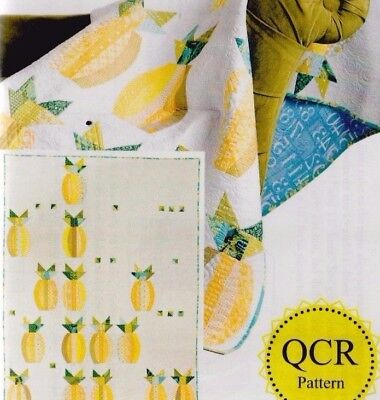 """Mod Pineapples - pieced quilt PATTERN by Sew Kind of Wonderful - 56"""" x 74"""""""