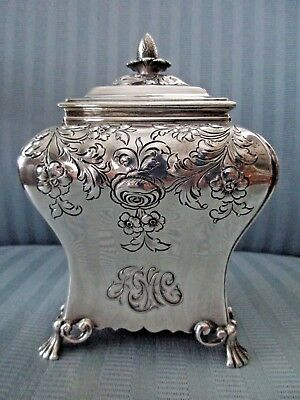 GORHAM Tea Caddy GEORGIAN Pierre GILLOIS London 1756 Repro STERLING SILVER .925