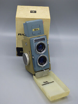 Ricoh Ricohmatic 44 TLR 4x4 Film Camera with 1:3.5 f-6cm Lens with Original Box