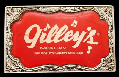 QK28141  AMAZING VINTAGE 1970s **GILLEY'S** THE WORLD'S LARGEST NITE CLUB BUCKLE