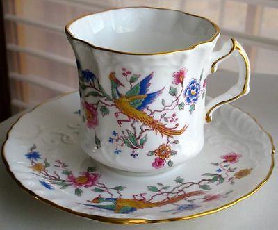 Hammersley Spode Gorgeous Bird of Paradise Fine Bone China Cup & Saucer
