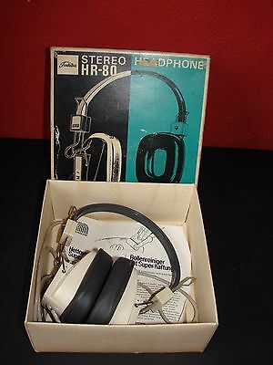 Vintage Toshiba Stereo HR-80 Headphones in Box