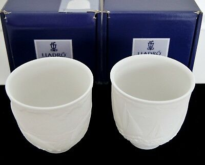 LOT OF 2 LLADRO Votive Cups 7657 Sailing the Seas & 7658 Dolphins at Play w/ BOX