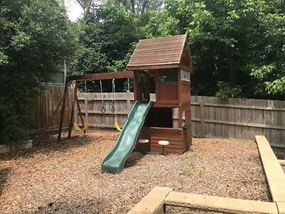 Children's Playground - Timber Fort Play System by Selwood Climbing Frames
