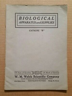 Biological Apparatus & Supplies,W.M.Welch Scientific Co.Chicago,Catalog,1925