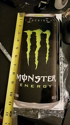 Large HUGE Monster Energy Drink Decal Sticker 11.5 x 5.5 inch logo can adhesive