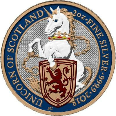 UK 2018 £5 Pounds Queen's Beasts - The Unicorn 2oz Proof Silver Coin PRE-SALE
