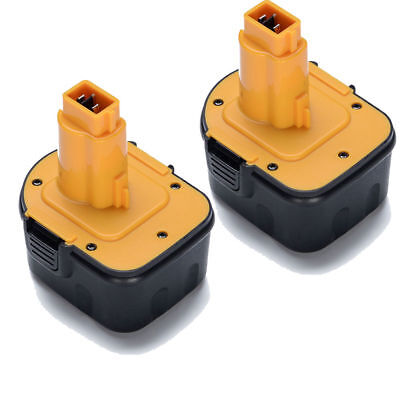 New 2 pack 12V 2.0Ah Ni-cd Replacement Battery for DEWALT XRP DC9071 DW9072