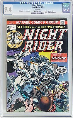 Night Rider #1 (Oct 1974, Marvel) CGC 9.4 NM Silver Age Ghost Rider name changed