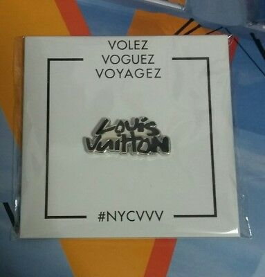 2017 Louis Vuitton Exhibition NYC Volez Voguez Voyagez Program & LV Pin Lot